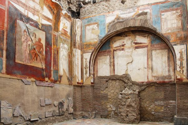Fresco in the ruins of Herculaneum