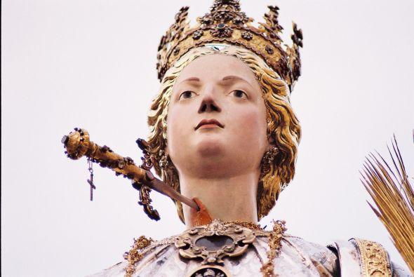 Statue of Santa Lucia in Siracusa