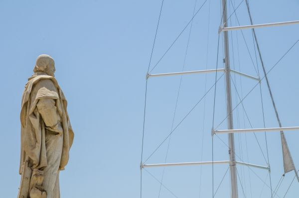 Garibaldi overlooking the Port of Trapani